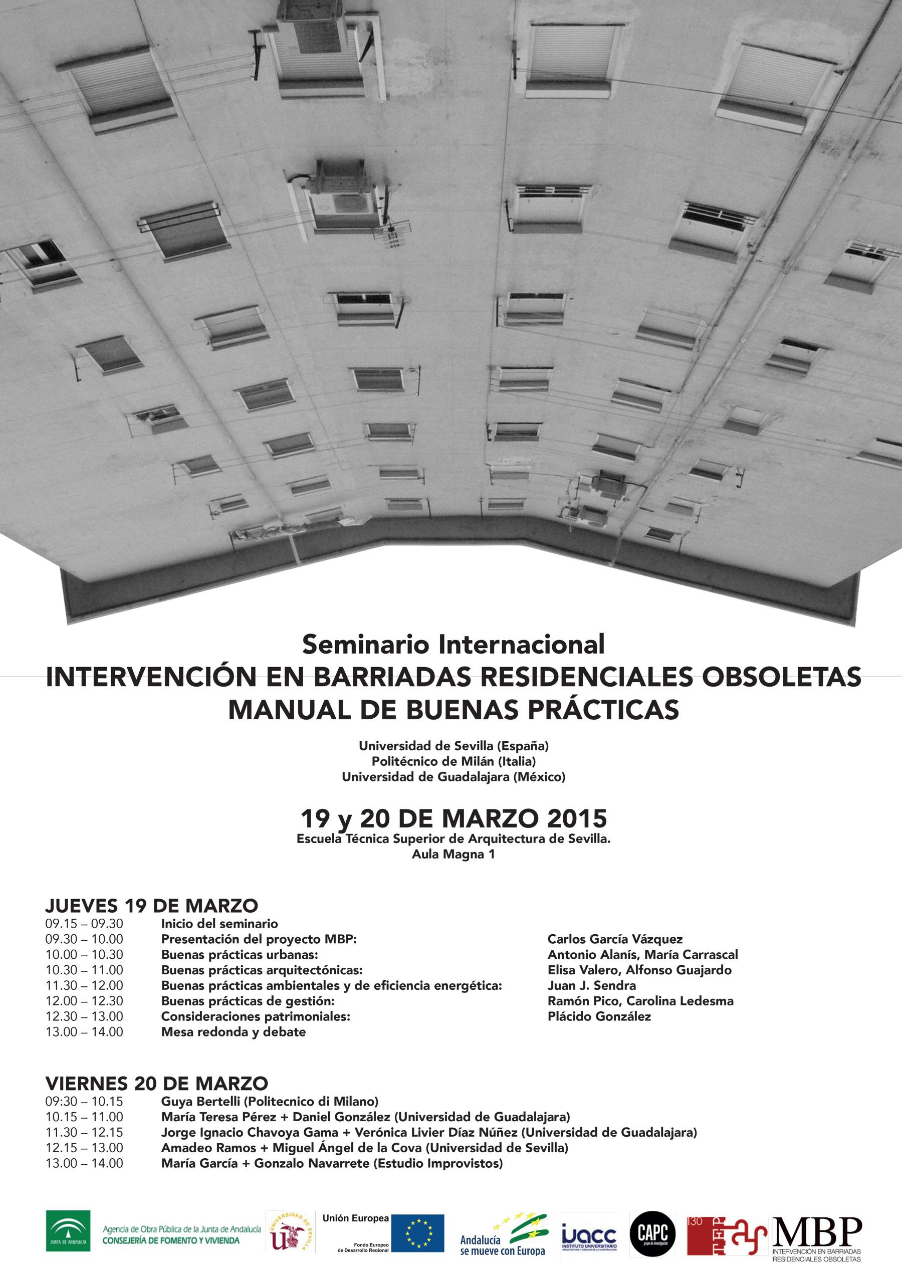 Resumen intervenci n en barriadas residenciales obsoletas andalucia transversal blog - Escuela tecnica superior de arquitectura sevilla ...